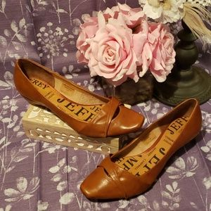 NWOB JEFFREY CAMPBELL LISA BROWN LEATHER FLATS